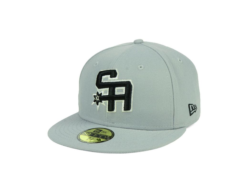 c4c99207fc34c Lyst - KTZ San Antonio Spurs Combo Logo 59fifty Fitted Cap in Gray ...