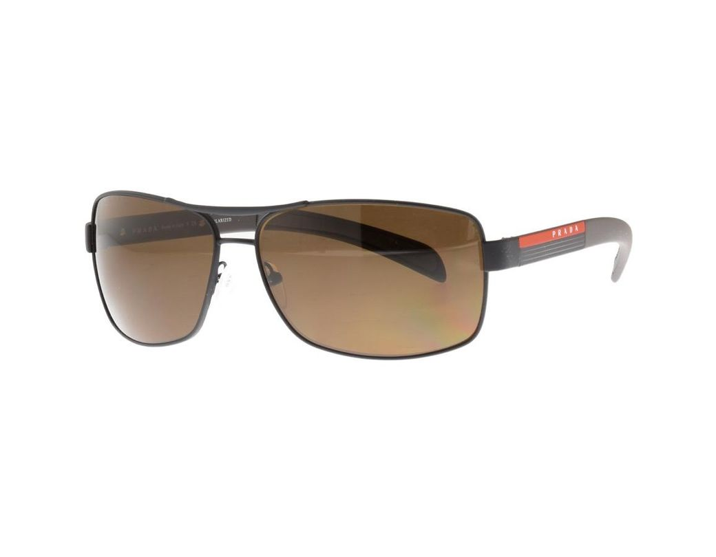2f76a33127982 Long-Touch to Zoom. Prada - Linea Rossa Sunglasses Black for Men - Lyst