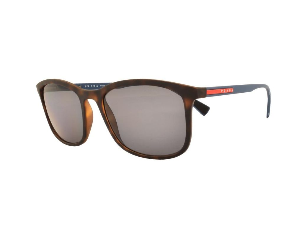 bb828f2f0f1bd Long-Touch to Zoom. Prada - Gray Linea Rossa 01ts Sunglasses Brown for Men  ...