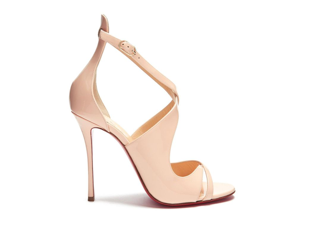 c7e7ee41ab93 Lyst - Christian Louboutin Malefissima Patent Leather Pumps in Pink