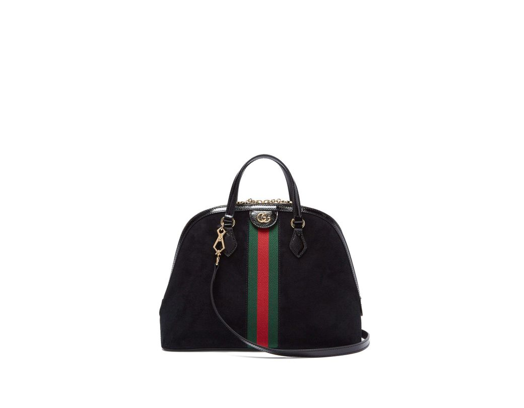 f945274b5f5 Lyst - Gucci Ophidia Gg Suede Tote Bag in Black - Save 2%
