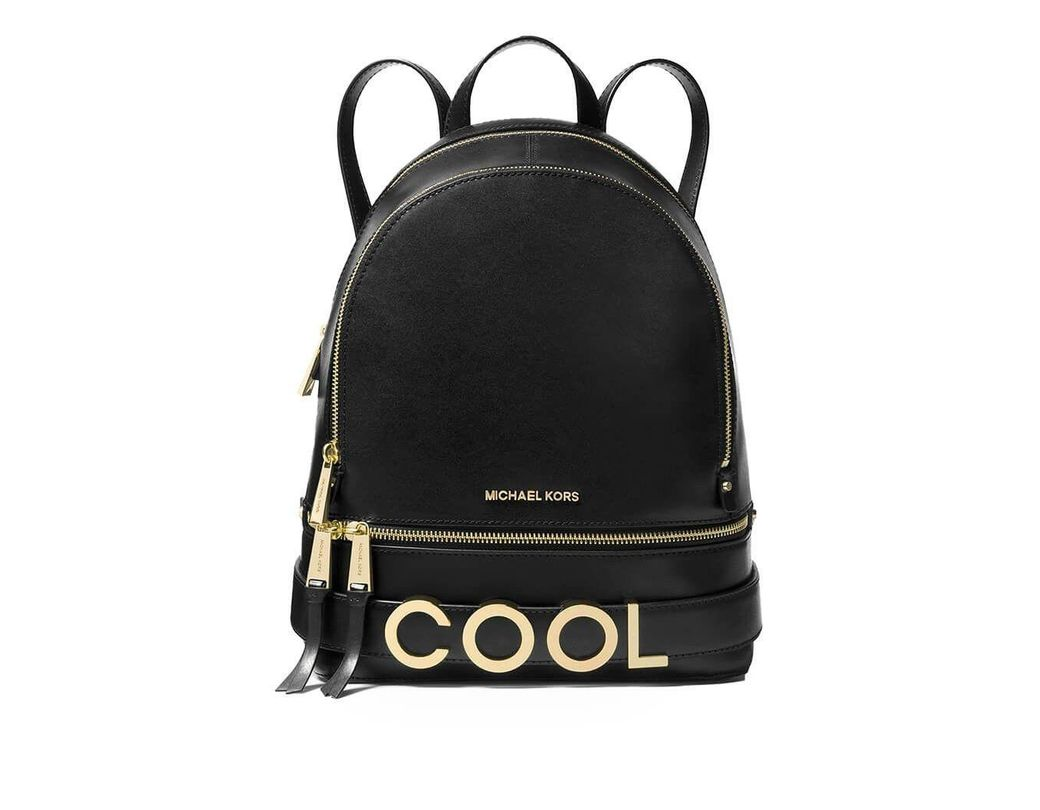 458aed3c5ac3 Lyst - Michael Kors Black Leather Backpack in Black - Save 55%