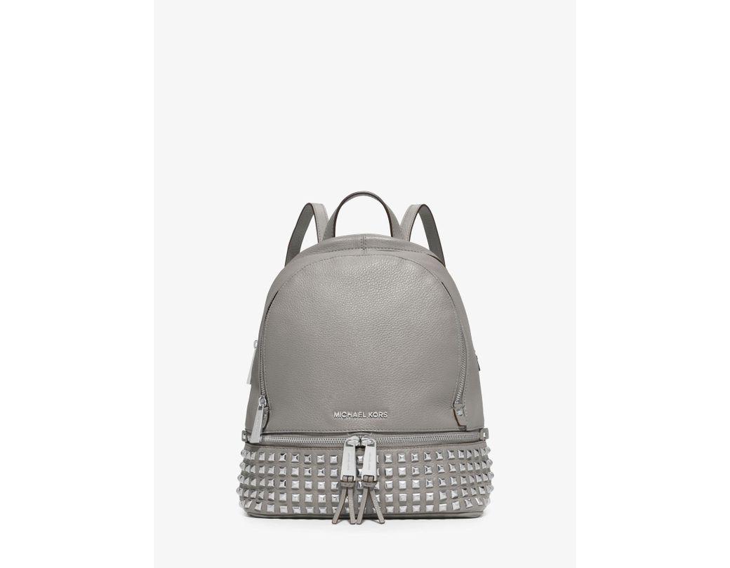 f2416d5b583f MICHAEL Michael Kors. Women s White Rhea Medium Studded Pebbled Leather  Backpack