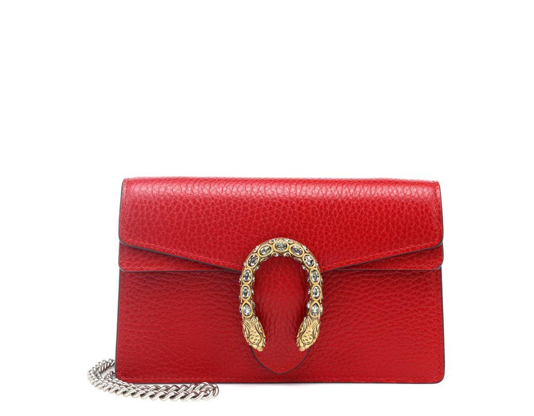 c36b498b765e Lyst - Gucci Dionysus Super Mini Shoulder Bag in Red