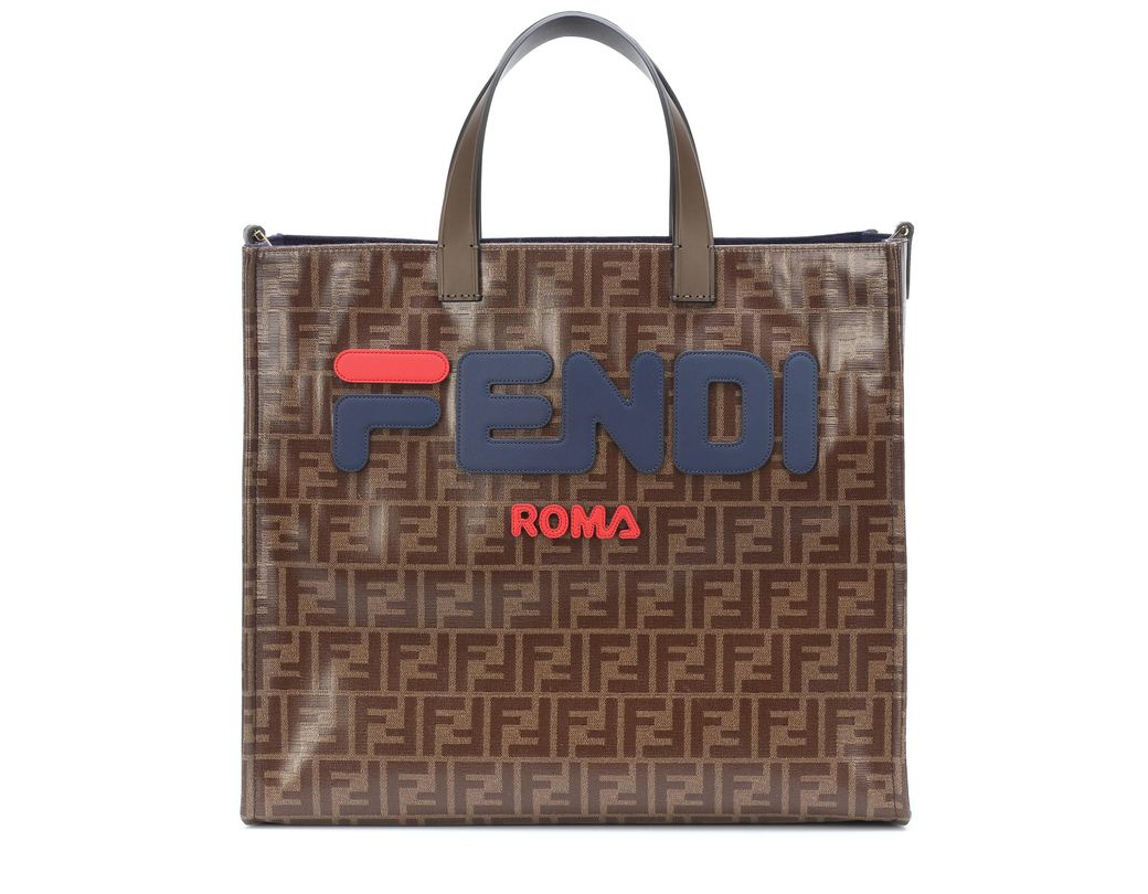 df73f5d287f3 Lyst - Fendi Mania Small Coated Canvas Tote Bag - Save 51%