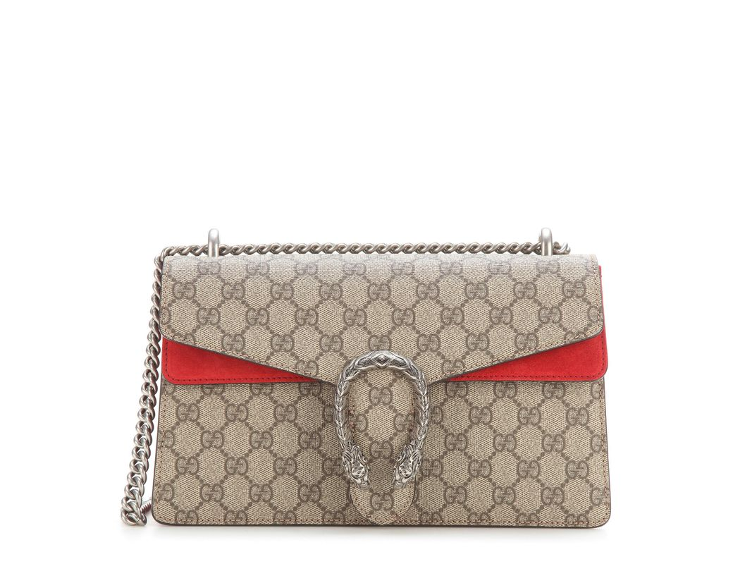 86b3d45bc26e6b Gucci Dionysus GG Supreme Shoulder Bag in Red - Lyst