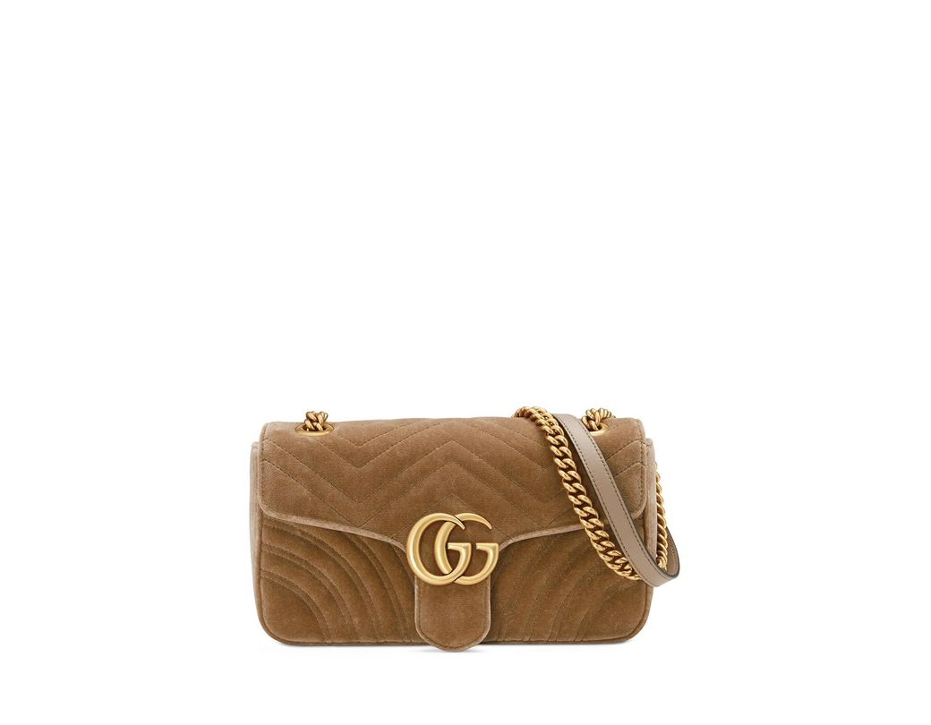b3ee933bc7e Gucci GG Marmont 2.0 in Brown - Save 10% - Lyst