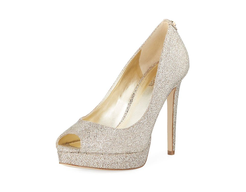 a1bea19f30fb MICHAEL Michael Kors. Women s Erika Glitter Metallic Platform Dress Pumps