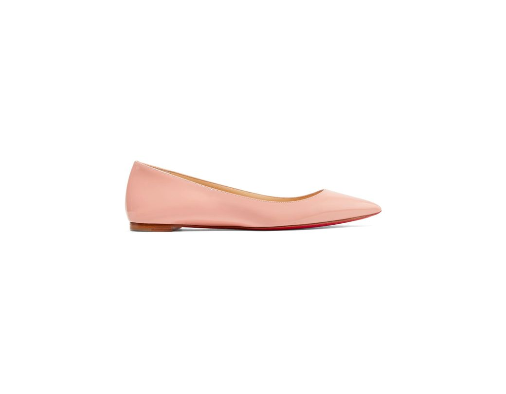 00d63ce87a8b Christian Louboutin. Women s Pink Ballalla Patent-leather Point-toe Flats