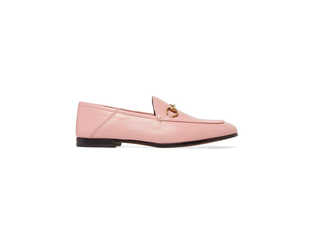 90e07644f76 Gucci. Women s Pink Brixton Horsebit-detailed Leather Collapsible-heel  Loafers