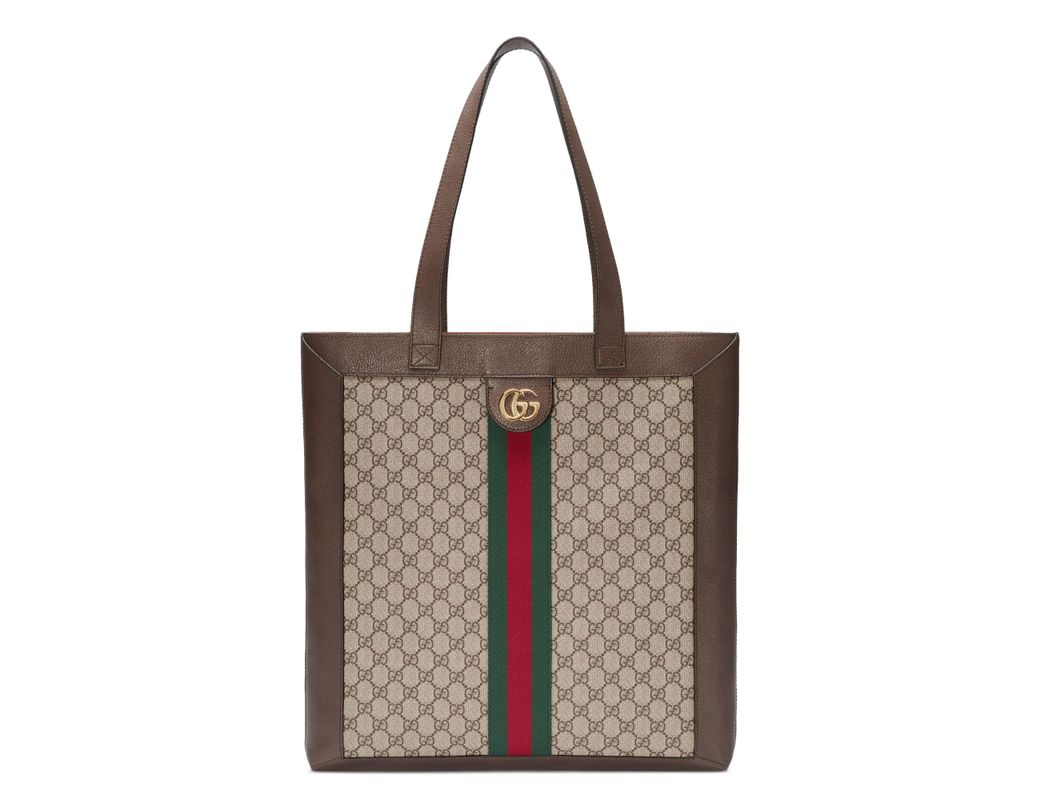 a071deb4464db8 Lyst - Gucci Large Gg Supreme Canvas Tote - in Brown