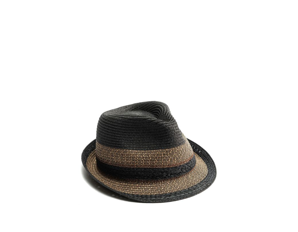 95e7690d3 Lyst - Vince Camuto Mixed Braid Fedora in Black