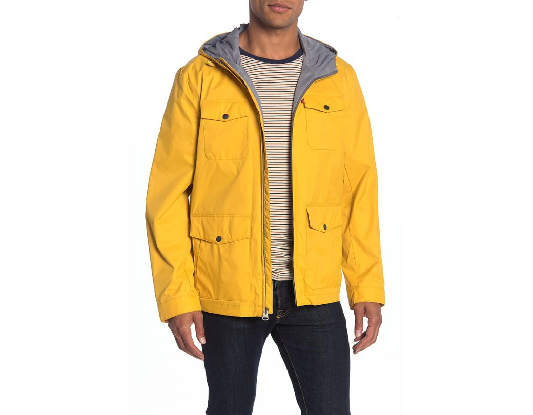 51e8904e1f9 Lyst - Levi's Nylon 4 Pocket Rain Jacket in Yellow for Men