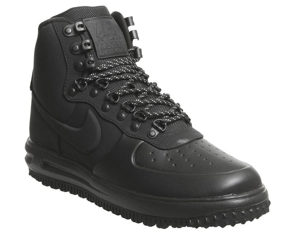 brand new 82dc4 cc19f Nike. Men s Black Lunar Force 1 Duckboot Trainers