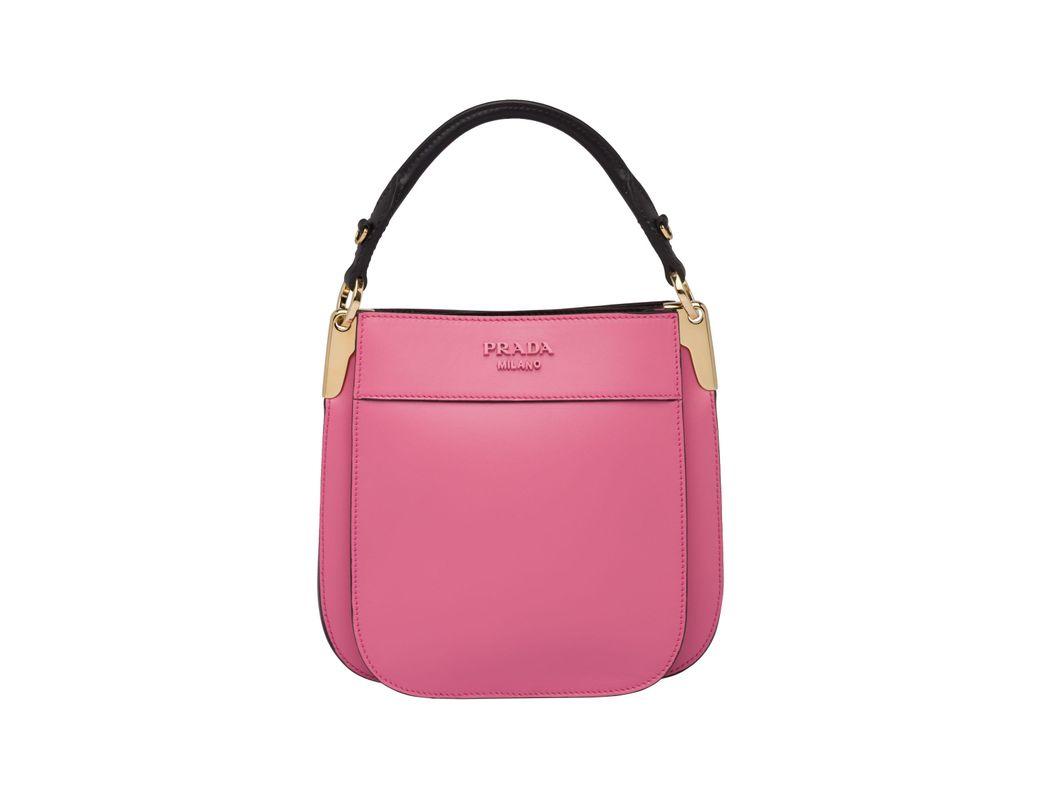 eb263459874a Lyst - Prada Margit Small Leather Bag in Pink