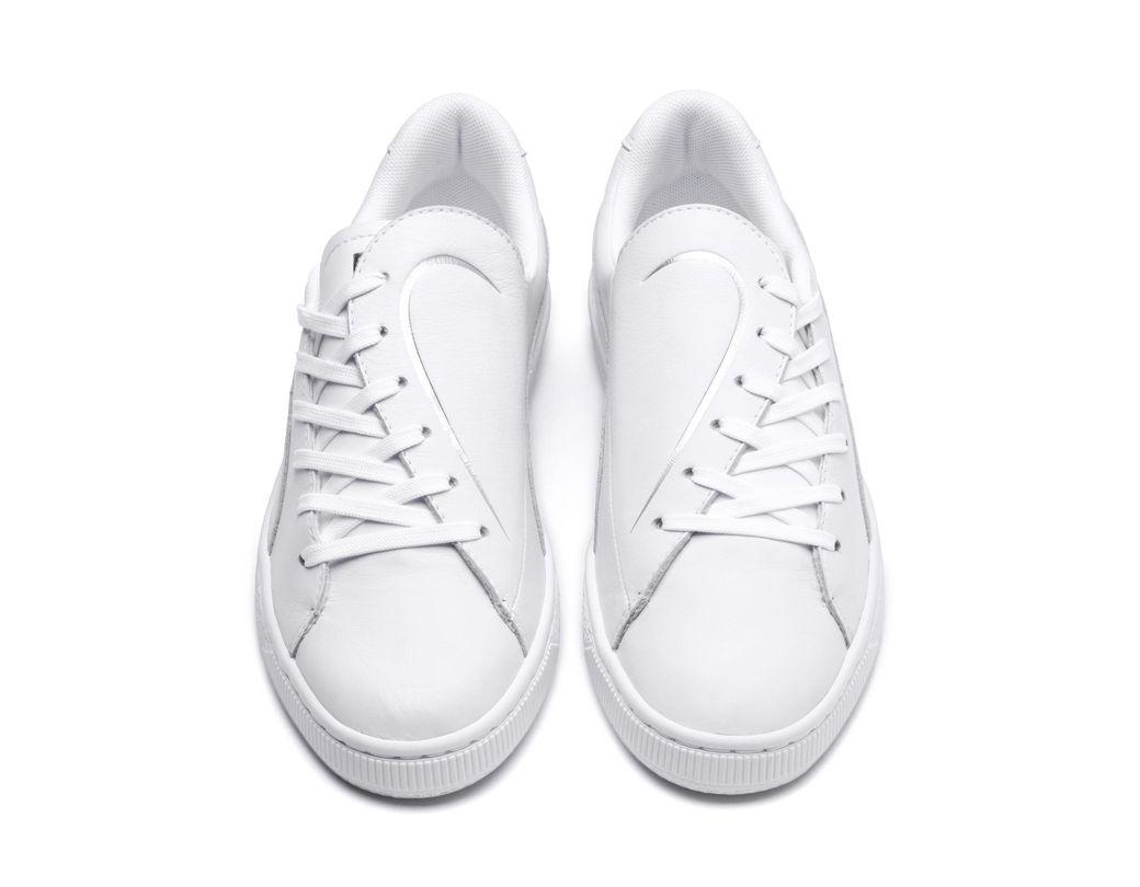 40391548b Lyst - PUMA Basket Crush Emboss Heart  s Sneakers in White