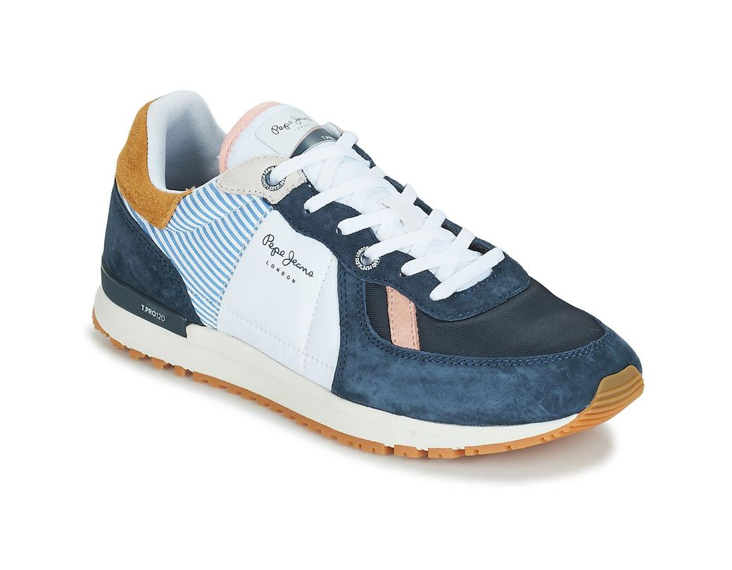 0f72ccdbbe4 Pepe Jeans Tinker Pro Camp Men s Shoes (trainers) In Blue in Blue ...