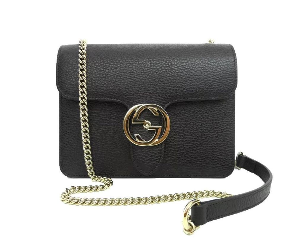 088be7dae92 Long-Touch to Zoom. Long-Touch to Zoom. 1  2  3. Gucci - Black Leather  Marmont Interlocking GG Crossbody Bag - Lyst ...