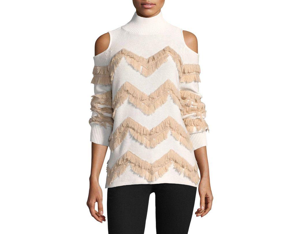 7415475bd416 Zoe Jordan High Hawking Fringed Cashmere Sweater - Save 24% - Lyst