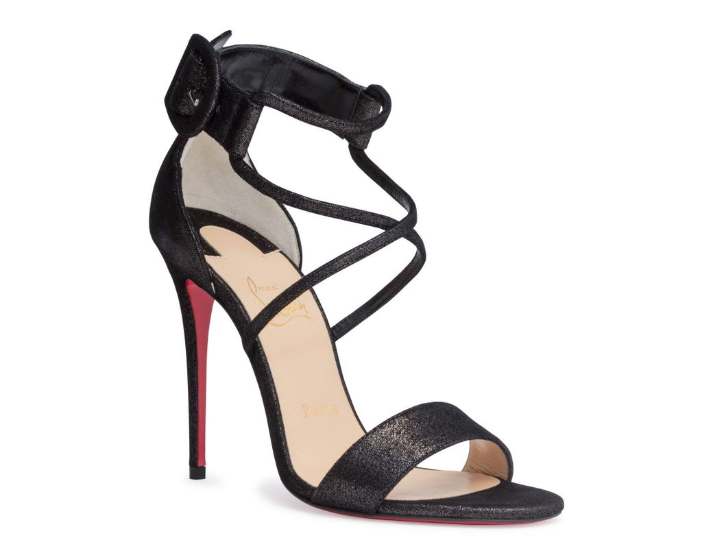 a9727105fe72 Christian Louboutin Choca 100 Black Suede Sandals in Black - Save 17 ...