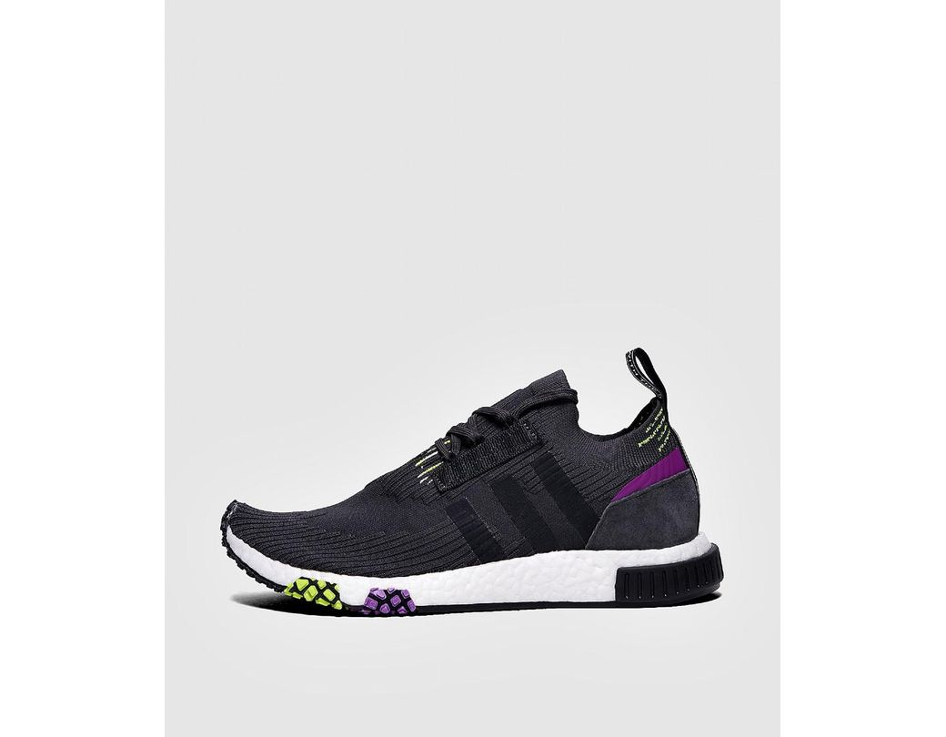 f59a85e93 adidas Originals. Men s Blue Adidas Nmd Racer Primeknit Carbon  Core Black   Solar Yellow
