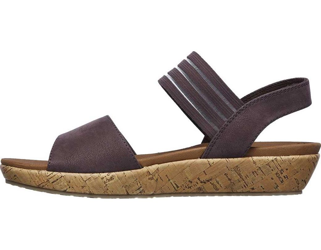 693c6b25120b Lyst - Skechers Brie Lo profile Ankle Strap Sandal in Purple
