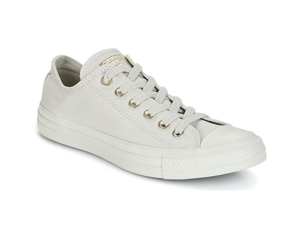 8a216cbb8ba Converse Chuck Taylor All Star Ox Mono Glam Canvas Color Shoes (trainers)  in Gray - Lyst