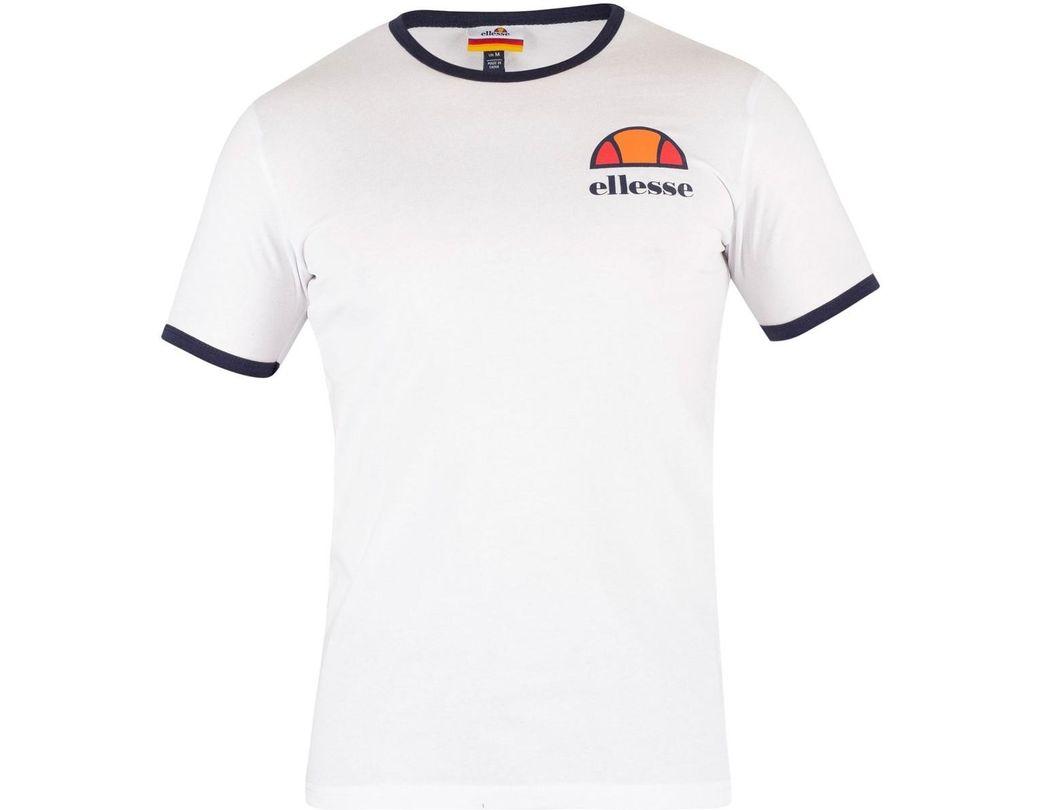 50c99b97 Ellesse Men's Algila T-shirt, White Men's T Shirt In White in White ...
