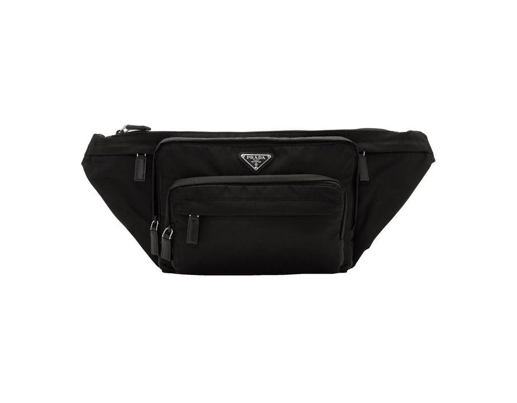 d3257f179e6a Lyst - Prada Black Small Nylon Logo Fanny Pack in Black for Men