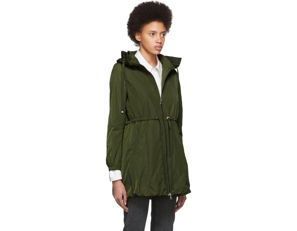 6bc76a118 Moncler Green Topaz Coat in Green - Lyst