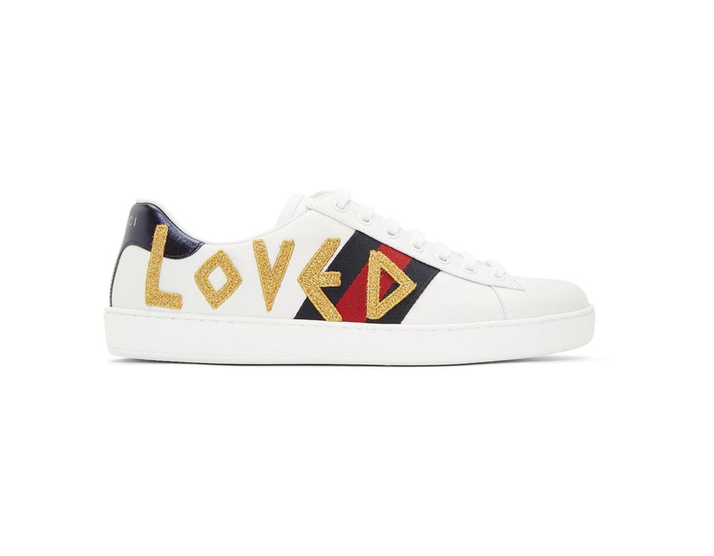 1faa949b344 Lyst - Gucci White Loved New Ace Sneakers in White for Men