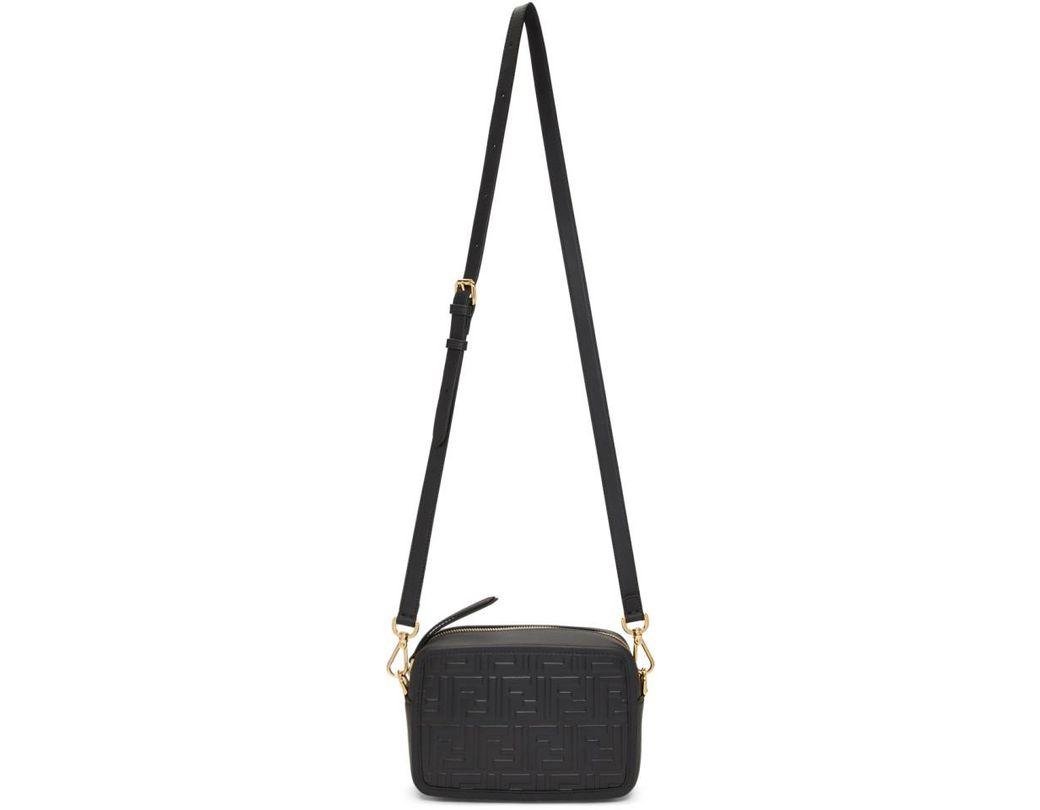 c5a08cec4971 Lyst - Fendi Black Mini Forever Camera Bag in Black