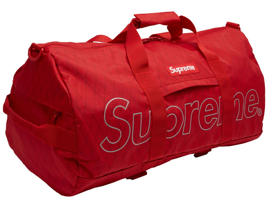 a09e4113ac8d Lyst - Supreme Duffle Bag (fw18) Red in Red for Men