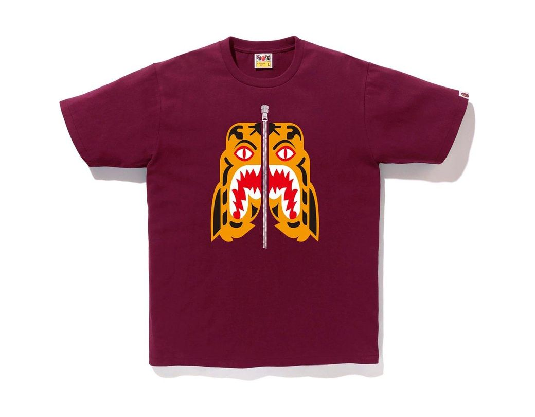 5c4394d3b Lyst - A Bathing Ape Tiger Tee Burgundy in Purple for Men