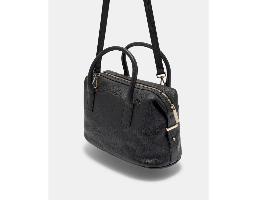 508eae65b304 Lyst - Ted Baker Bow Detail Large Leather Bowler Bag in Black