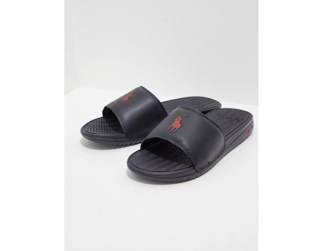 34dc2139ef2b Polo Ralph Lauren Rodwell Slide Sandal in Black for Men - Save 43 ...