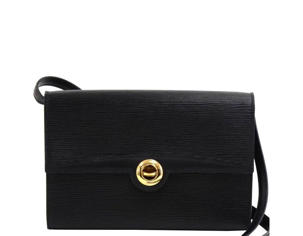 c0953459458e Louis Vuitton Noir Epi Leather Pochette Arche Clutch Bag in Black - Lyst