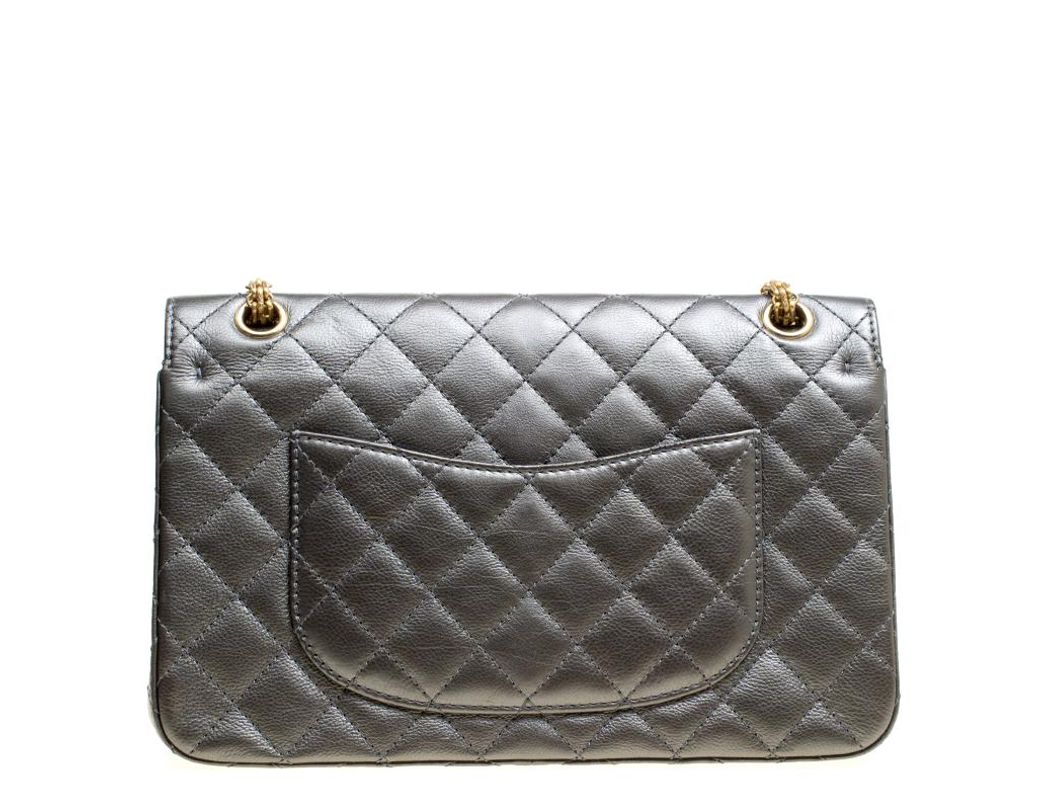 4ba80b5c8bbbb1 Chanel Grey Quilted Leather Reissue 2.55 Classic 226 Flap Bag in Gray - Lyst