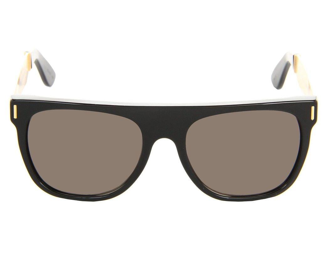 f6030562576f Lyst - Retrosuperfuture Flat Top 55mm (matte Black / Black) Fashion  Sunglasses in Black