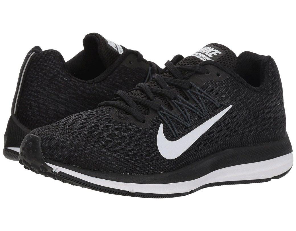 fb31bfae6a4a Lyst - Nike Air Zoom Winflo 5 (black white anthracite) Women s ...