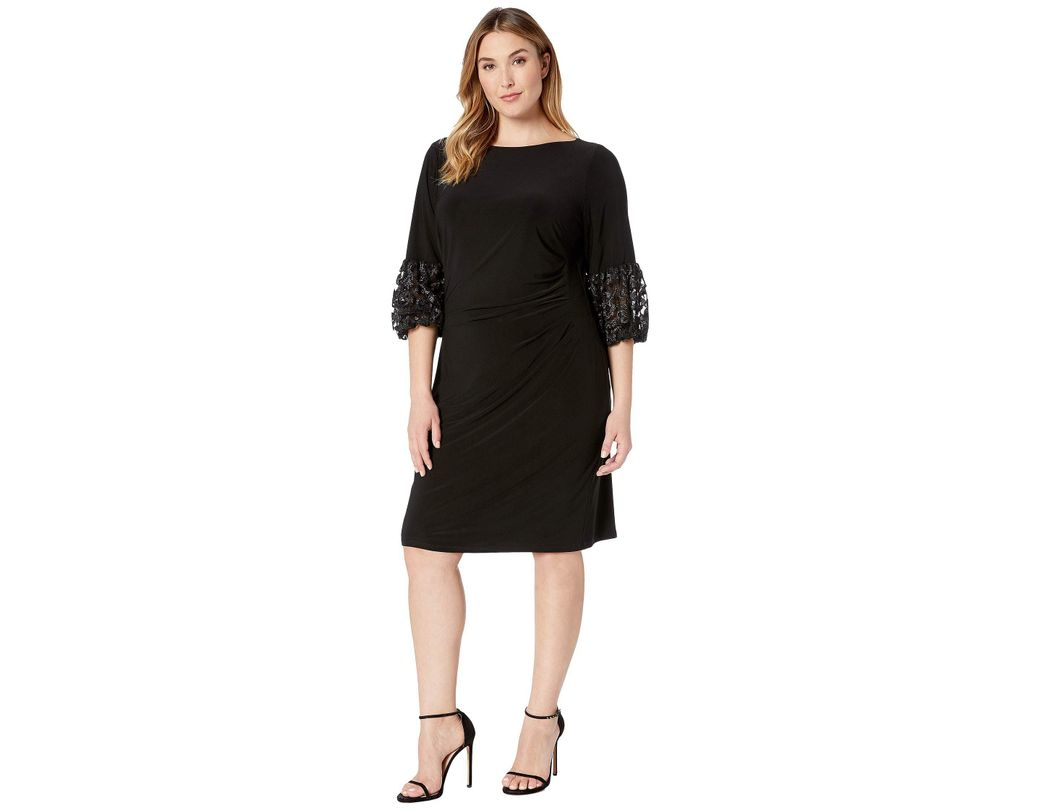1629da82a27 Lyst - Lauren by Ralph Lauren Plus Size Vidella 1t Matte Jersey Day ...