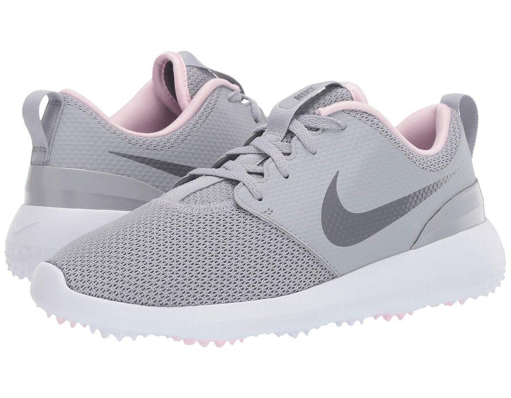 8dad2808e567 Lyst - Nike Roshe G (wolf Grey cool Grey white pink Foam) Women s ...