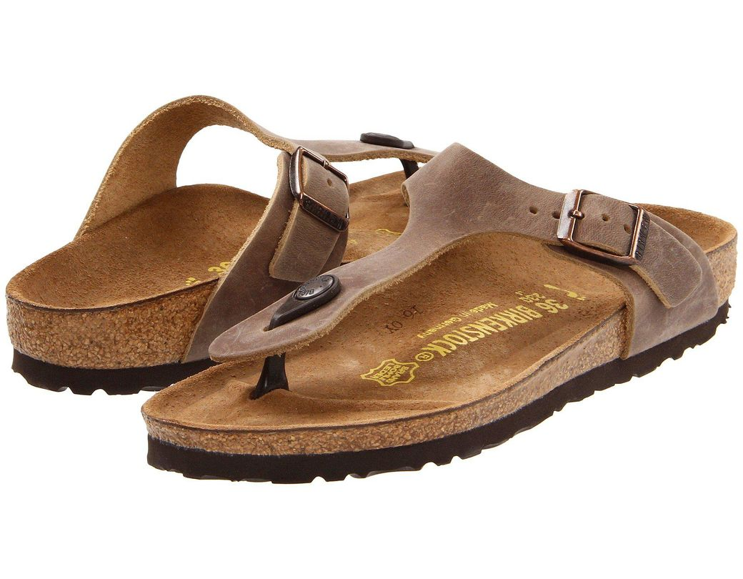 f9460c729368 Birkenstock. Brown Gizeh Oiled Leather (habana Oiled Leather) Women s  Sandals