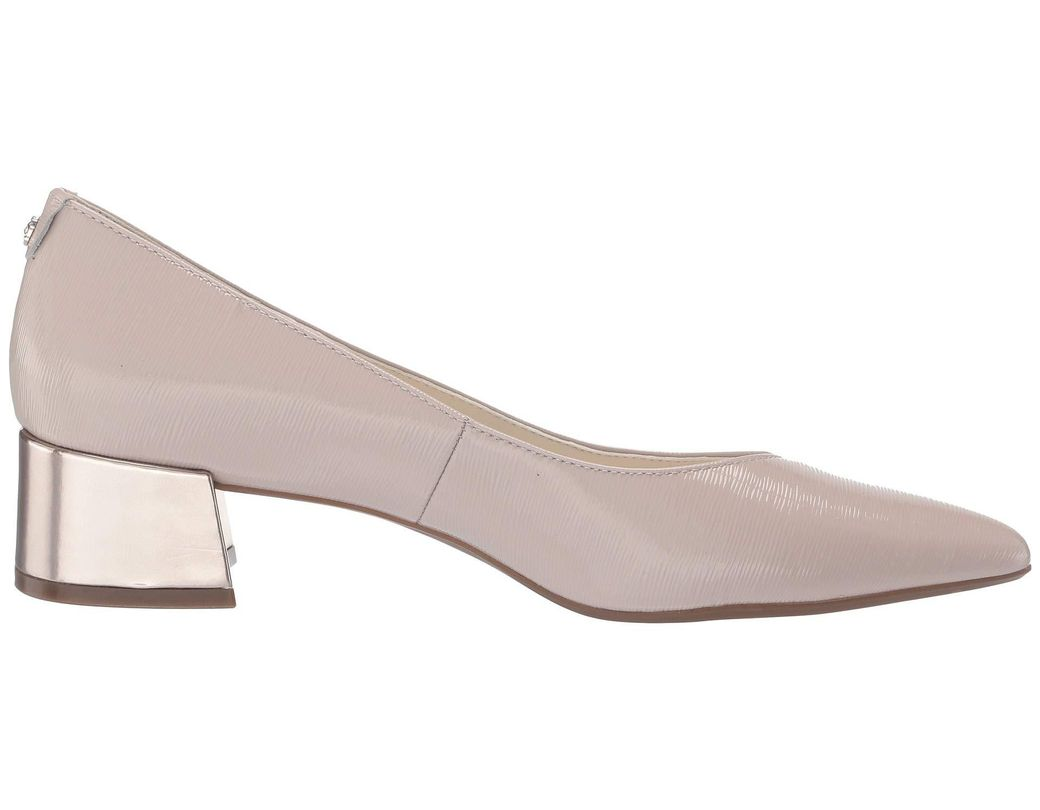 4b785c000898 Lyst - Anne Klein Norwood Block Kitten Heel (light Yellow) Women s Shoes in  Natural