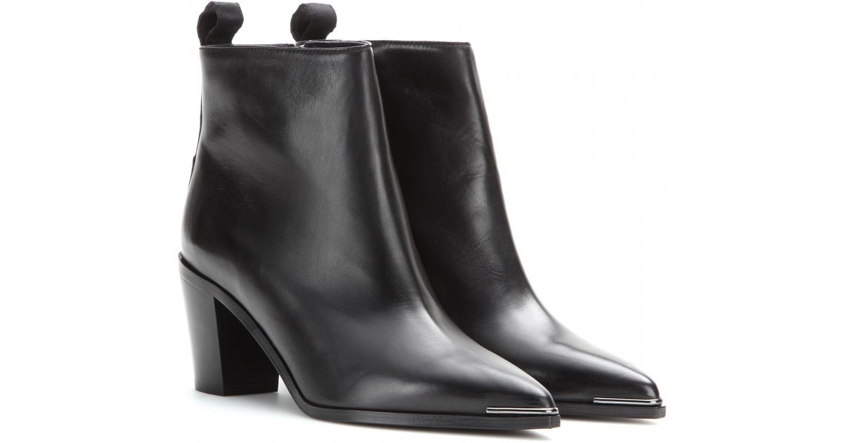 Acne Studios Loma Leather Ankle Boots collections for sale x42tf0in
