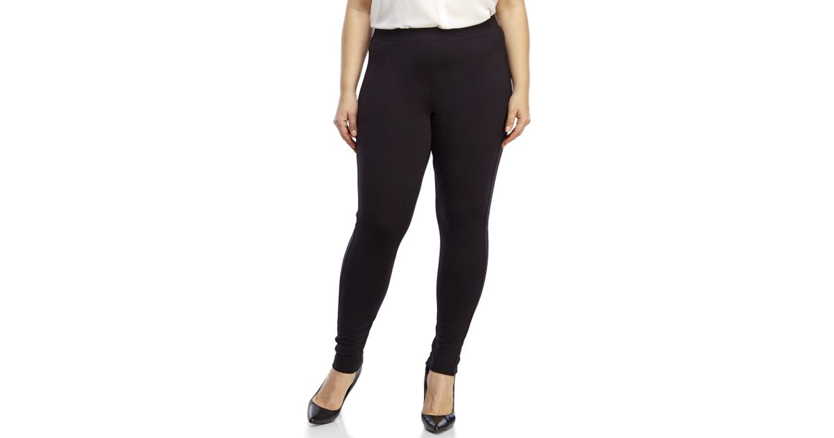 9d994c5c3130f Premise Studio Plus Size Black Ponte Knit Leggings in Black - Lyst