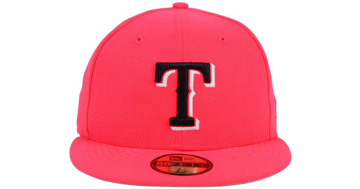 best service 17d44 2454e ... promo code for lyst ktz texas rangers c dub 59fifty cap in red for men  b70e8