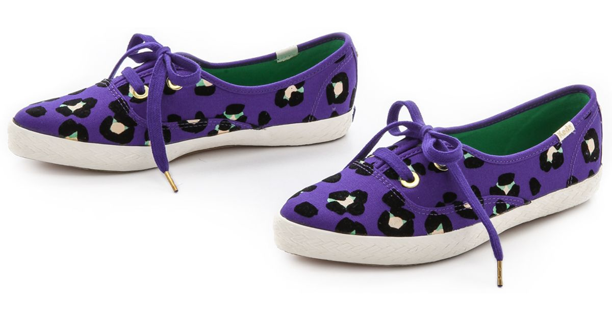 3ae3fc6f914d Kate Spade Keds For Kate Spade Pointer Cheetah Sneakers - Cyber Orange in  Purple - Lyst
