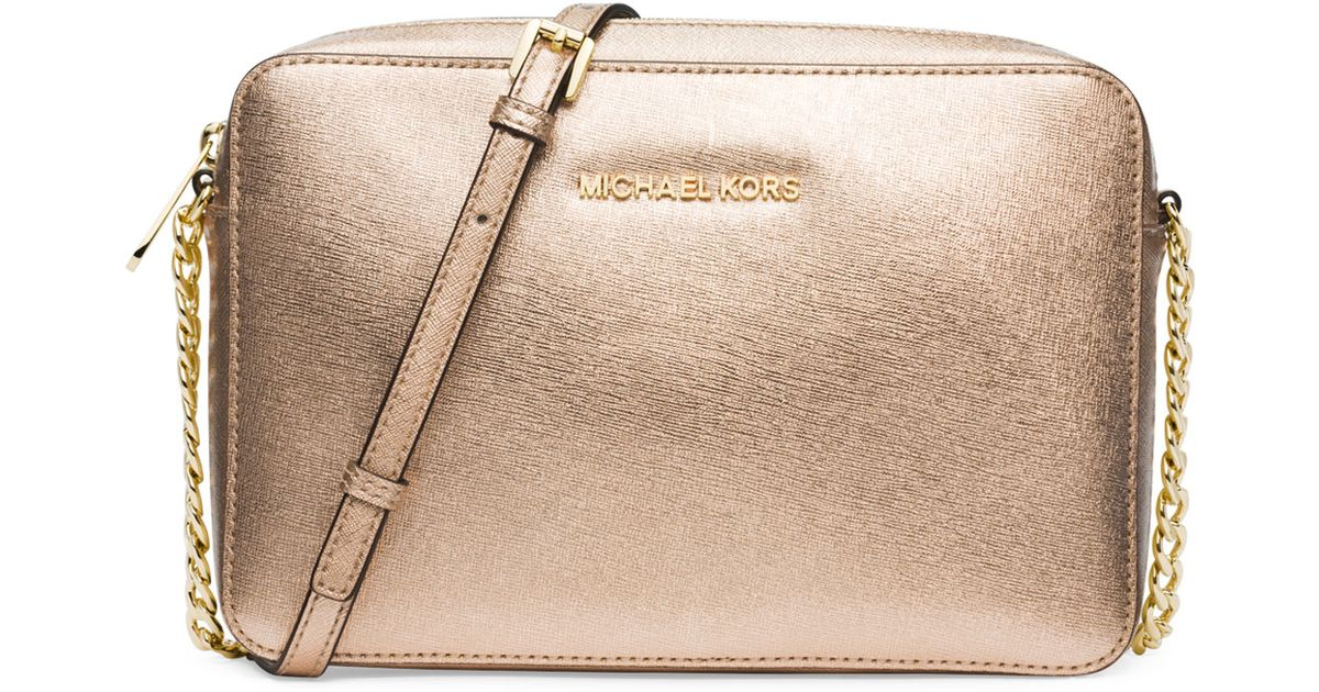 83714f2107f366 MICHAEL Michael Kors Jet Set Travel Large Crossbody Bag in Metallic - Lyst