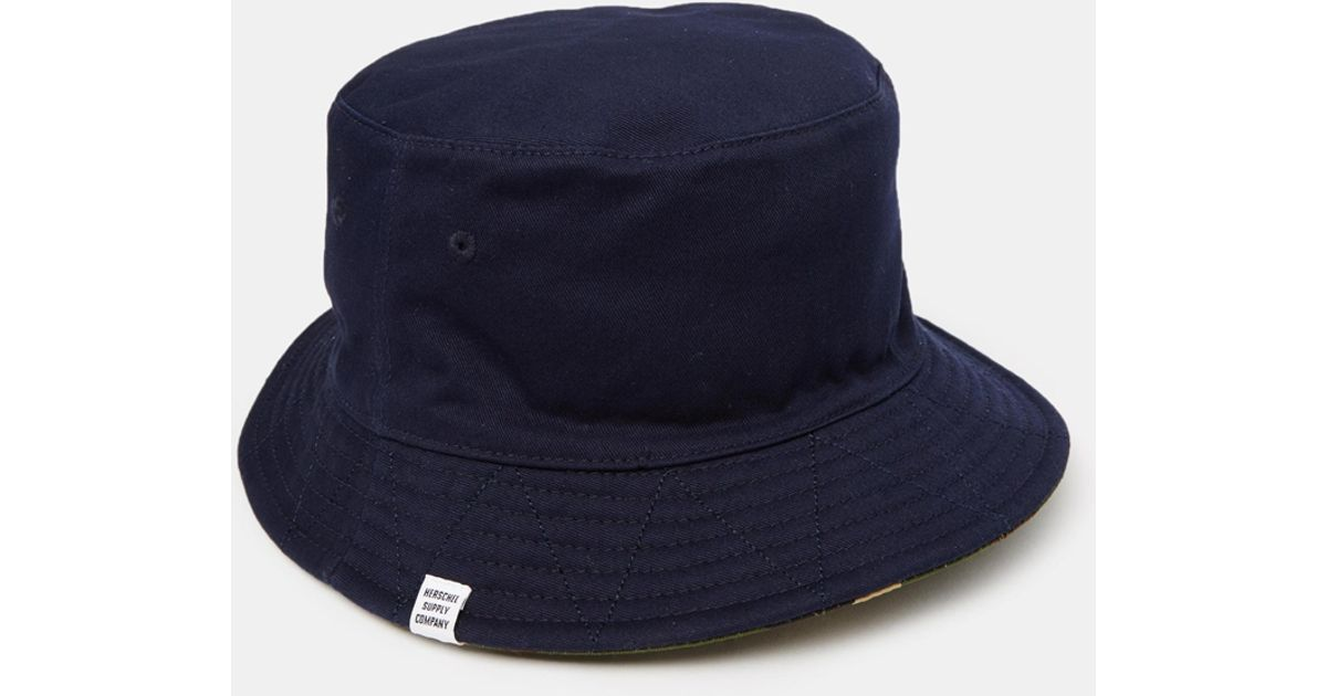 Lyst - Herschel Supply Co. Lake Reversible Bucket Hat in Blue for Men 4fae79ae1ca6